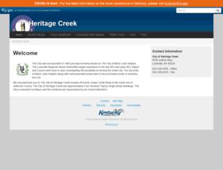 heritagecreek.ky.gov screenshot