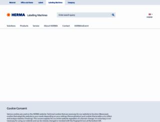 herma-labellingmachines.co.uk screenshot
