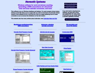hermetic.ch screenshot