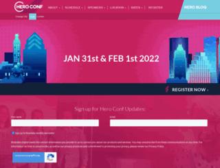 heroconf.com screenshot