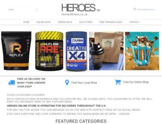 heroesfitness.co.uk screenshot