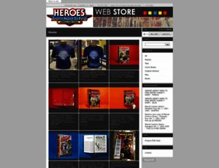 heroesonline.bigcartel.com screenshot
