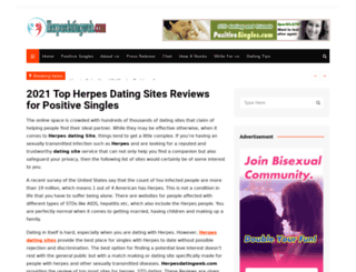 herpesdatingweb.com screenshot