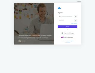 hershpr.agilecrm.com screenshot