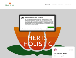 hertsholistic.com screenshot