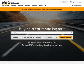 hertzcarsales.com screenshot