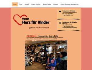 herz-fuer-kinder.ch screenshot