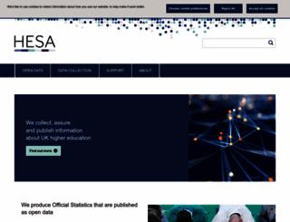 hesa.ac.uk screenshot