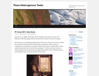 heterogenoustasks.wordpress.com screenshot