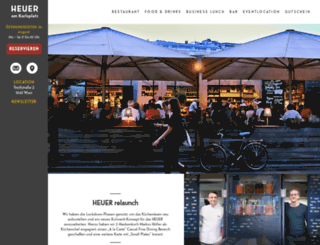 heuer-amkarlsplatz.com screenshot