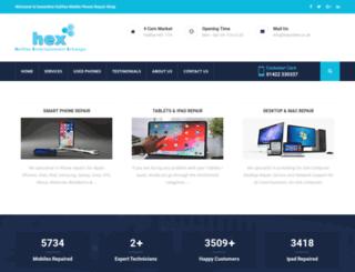 hexonline.co.uk screenshot