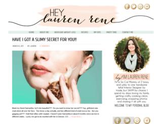 heylaurenrene.com screenshot