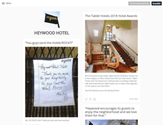 heywoodhotel.tumblr.com screenshot