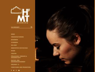 hfmt-hamburg.de screenshot