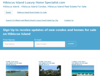 hibiscusislandluxuryhomespecialist.com screenshot