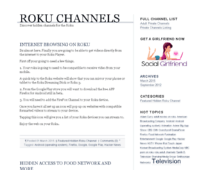 hiddenrokuchannels.com screenshot