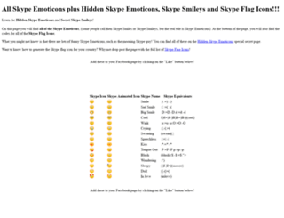 hiddenskypeemoticons.com screenshot