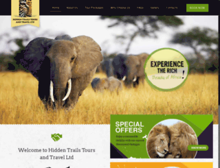 hiddentrailstours.com screenshot