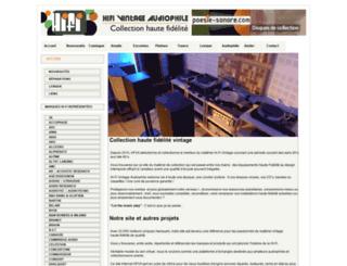 hifi-vintage-audiophile.fr screenshot
