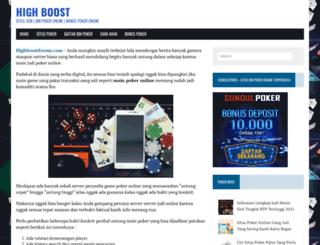 highboostforum.com screenshot