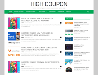highcoupon.com screenshot