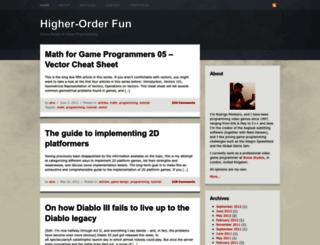 higherorderfun.com screenshot
