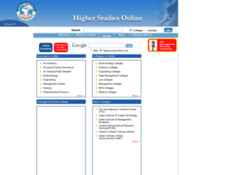 higherstudiesonline.com screenshot