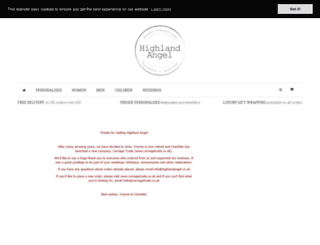 highlandangel.co.uk screenshot
