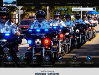 highlandcity.org screenshot