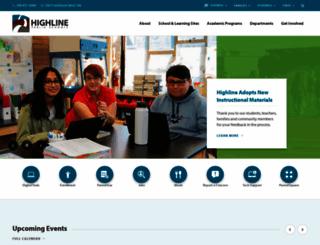 highlineschools.org screenshot