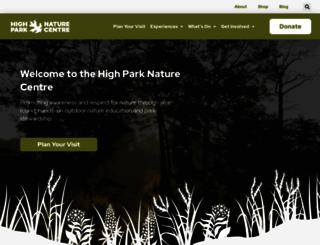 highparknaturecentre.com screenshot
