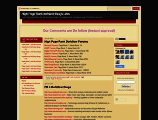 highprdofollowblogs.blogspot.com screenshot