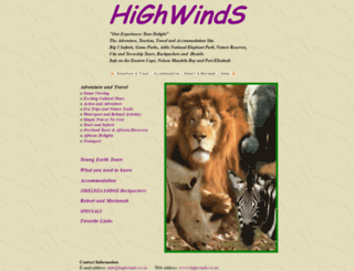 highwinds.co.za screenshot