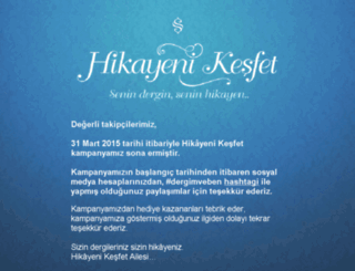 hikayenikesfet.com screenshot