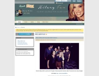 hilaryfan.com screenshot