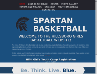 hilhigirlsbasketball.com screenshot