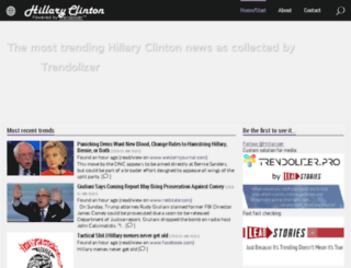 hillaryclinton.trendolizer.com screenshot
