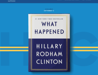 hillaryclintonmemoir.com screenshot
