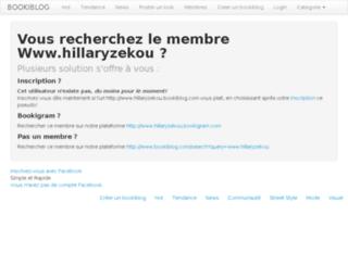 hillaryzekou.bookiblog.com screenshot