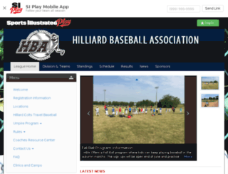 hilliardbaseball.sportssignupapp.com screenshot