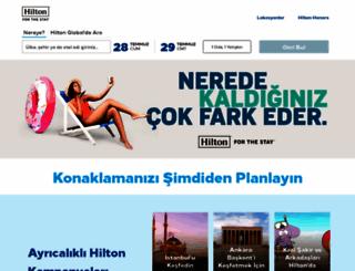 hilton.com.tr screenshot