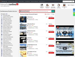 himachalonline.in screenshot