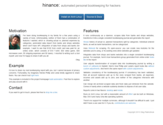 hinance.org screenshot