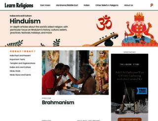hinduism.about.com screenshot