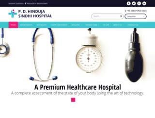 hindujasindhihospital.com screenshot