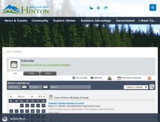 hintoncommunitycalendar.ca screenshot