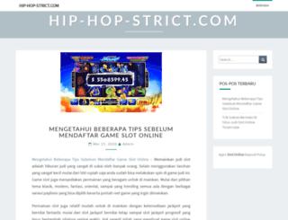 hip-hop-strict.com screenshot