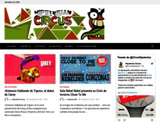 hipsteriancircus.es screenshot