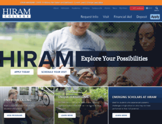 hiram.edu screenshot