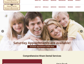 hiramfamilydentistry.com screenshot